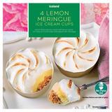 Iceland 4 Lemon Meringue Ice Cream Cups 280g