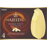 Iceland 4 Majestics Belgian White Chocolate 480ml
