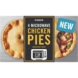 Iceland 4 Microwave Chicken Pies 570g
