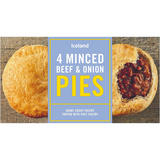 Iceland 4 Minced Beef & Onion Pies 568g