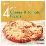 Iceland 4 Mini Cheese & Tomato Pizzas 356g