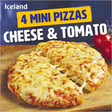 Iceland 4 Mini Pizzas – Cheese & Tomato 356g