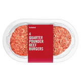Iceland 4 Quarter Pounder Beef Burgers 454g