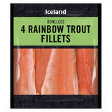 Iceland 4 Rainbow Trout Fillets 400g