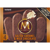 Iceland 4 Salted Caramel & Milk Chocolate Majestics 252g