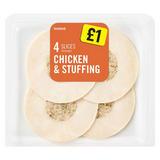 Iceland 4 Slices (average) Chicken & Stuffing 70g