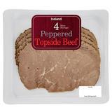 Iceland 4 Slices (Average) Peppered Topside Beef 100g
