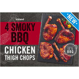 Iceland 4 Smoky BBQ Chicken Thigh Chops 520g