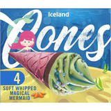 Iceland 4 Soft Whipped Magical Mermaid Cones 296g