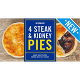 Iceland 4 Steak and Kidney Pies 568g