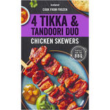 Iceland 4 Tikka and Tandoori Duo Chicken Skewers 440g