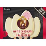 Iceland 4 Truffle Majestics White Chocolate Flavour & Raspberry 256g