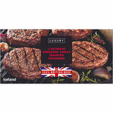 Iceland 4 Ultimate 100% British Beef Luxury Aberdeen Angus Quarter Pounders 454g