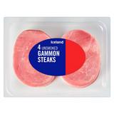 Iceland 4 Unsmoked Gammon Steaks 450g