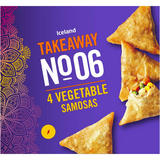 Iceland 4 Vegetable Samosas 200g