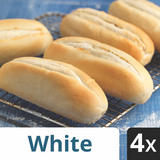 Iceland 4 White Part Baked Petits Pains
