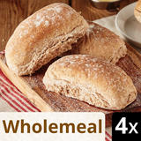 Iceland 4 Wholemeal Deli Rolls