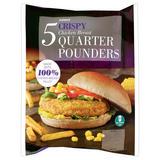 Iceland 5 Crispy Chicken Breast Quarter Pounders 565g