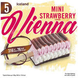 Iceland 5 Mini Strawberry Flavour Vienna 175g