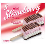 Iceland 5 Mini Strawberry Vienna 175g