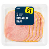 Iceland 5 Slices (average) Breaded Ham 70g
