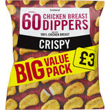 Iceland 60 (approx.) Crispy Chicken Breast Dippers 1.08kg