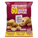 Iceland 60 Crispy Chicken Dippers 1.08Kg
