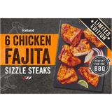 Iceland 6 (approx.) Chicken Fajita Sizzle Steaks 420g