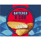 Iceland 6 Battered Cod Fillets 750g