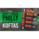 Iceland 6 Beef & Cheese Philly Style Koftas 300g