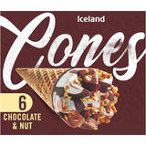 Iceland 6 Chocolate and Nut Cones 372g