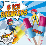 Iceland 6 Ice Breakers - Raspberry and Cherry Flavour and Lemon and Orange Flavour 360g