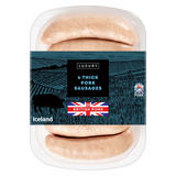 Iceland 6 Luxury British Thick Pork Sausages 340g