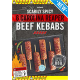 Iceland 6 Scarily Spicy Carolina Reaper Beef Kebabs 300g