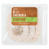 Iceland 6 Slices (approx.) Chicken and Stuffing 100g