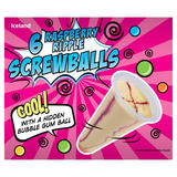 Iceland 6 Super Surprise Raspberry Ripple Screwballs with a Hidden Bubble Gum Ball 600ml