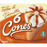 Iceland 6 Toffee & Vanilla Cones 372g