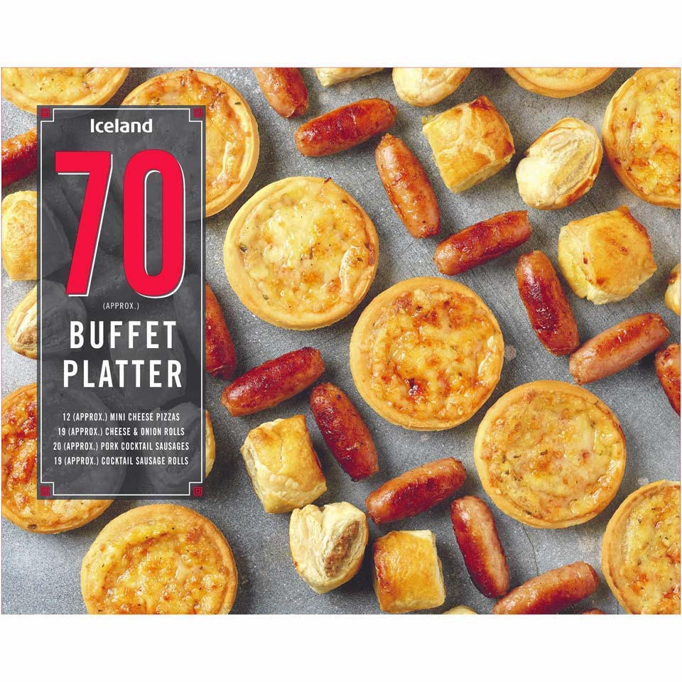 Iceland 70 Approx Buffet Platter 1167kg Iceland Foods