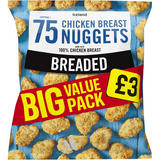 Iceland 75 Approx. Breaded Chicken Breast Nuggets 1.05kg