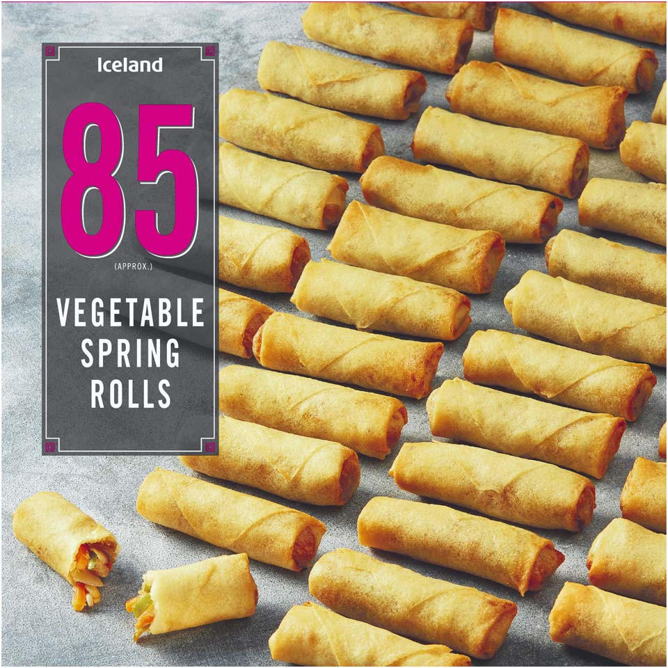 Iceland 85 Approx Vegetable Spring Rolls 1 7kg Party