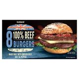 Iceland 8 100% British Beef Burgers 397g