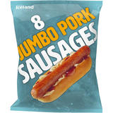 Iceland 8 (approx.) Jumbo Pork Sausages 800g