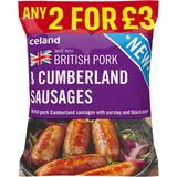 Iceland 8 British Pork Cumberland Sausages 360g