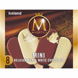 Iceland 8 Mini Belgian Milk & White Chocolate Majestics 320g