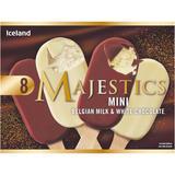 Iceland 8 Mini Belgian Milk and White Chocolate Majestics 320g