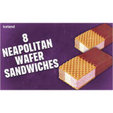 Iceland 8 Neapolitan Wafer Sandwiches 400g