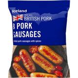 Iceland 8 Pork Sausages 360g