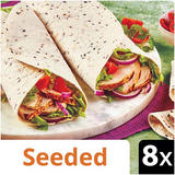 Iceland 8 Seeded Tortilla Wraps 496g