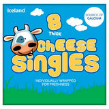 Iceland 8 Thick Cheese Singles 200g