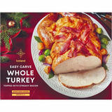 Iceland        Easy Carve Whole Turkey Topped with Streaky Bacon      4.0kg